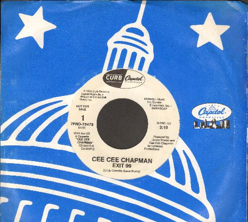Chapman, Ce Ce - Exit 99 (double-A-sided DJ advance pressing with Capitol company sleeve) - NM9/ - 45 rpm Records