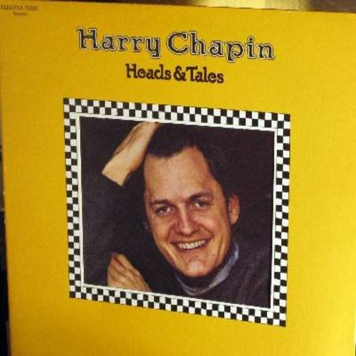 Chapin, Harry - Heads & Tales: Taxi (6:44 minutes unedited version!), Dogtown (&:30 minutes version), Sometime Somewhere Wife, Greyhound (Vinyl STEREO LP record, gate-fold cover first issue) - NM9/EX8 - LP Records