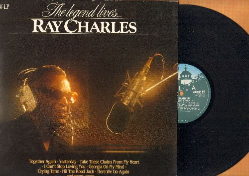 Charles, Ray - The Legend Lives…:Yesterday, Born To Lose, You Don't Know Me, I Can't Stop Loving You, Makin' Whoopee (Vinyl STEREO LP record, Durch Pressing, gate-fold cover) - EX8/EX8 - LP Records