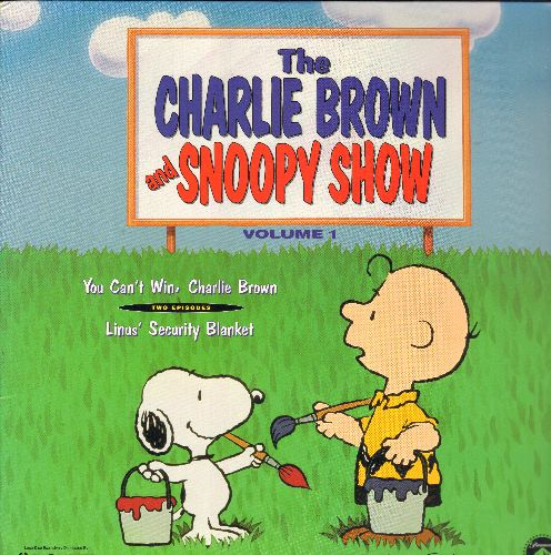 Charlie Brown & Snoopy Show - The Charlie Brown & Snoopy Show Vol.1: You Can't Win, Charlie Brown/Linus' Security Blanket - Emmy Winning Series on LASERDISC (This is a LASERDISC, NOT any other kind of media!) - NM9/NM9 - LaserDiscs