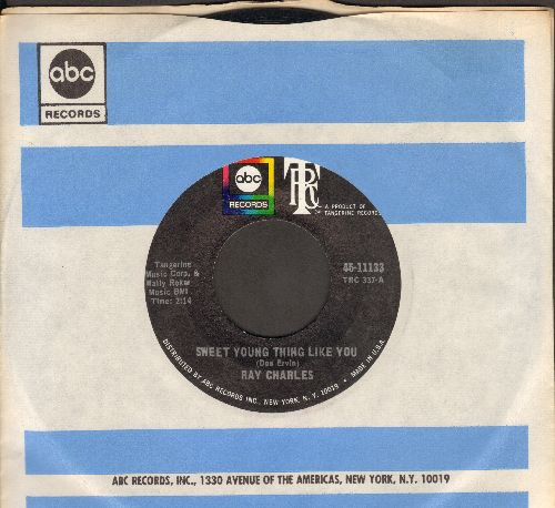 Charles, Ray - Sweet Young Thing Like You/Listen, They're Playing My Song (with vintage ABC company sleeve) - M10/ - 45 rpm Records