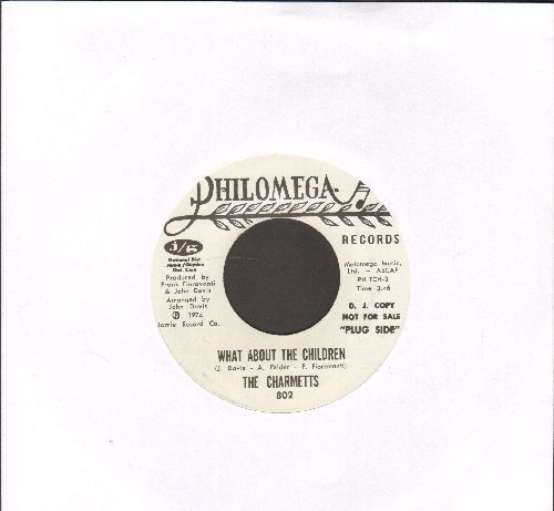 Charmetts - What About The Children/Breaking Up Again (RARE DJ advance pressing) - EX8/ - 45 rpm Records