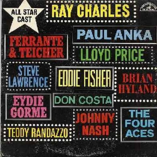 Nash, Johnny, Ray Charles, Paul Anka, Brian Hyland, others - All Star Cast: Stella By Starlight, Never Let Me Go, You Need Hands, Just Young, The Way Of A Clown, Shalom But Not For Me (Vinyl MONO LP record) - NM9/VG7 - LP Records