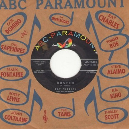 Charles, Ray - Busted/Making Believe (with ABC-Paramount company sleeve) - NM9/ - 45 rpm Records