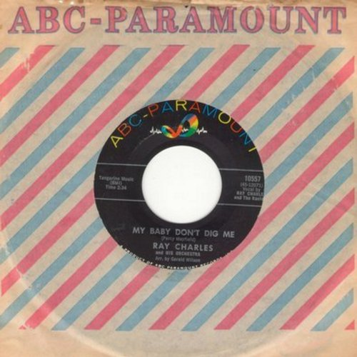 Charles, Ray - My Baby Don't Dig Me/Something's Wrong (with vintage ABC-Paramount company sleeve) - NM9/ - 45 rpm Records