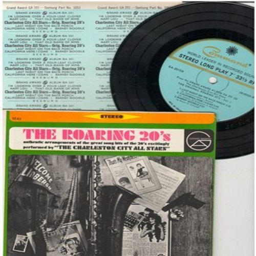 Charleston City All Stars - The Roaring 20s: Barney Google/California Here I Come/I'm Looking Over A Four Leaf Clover + 3 more! (7 inch33rpm vinyl Mini-LP with picture cover) - NM9/NM9 - 45 rpm Records