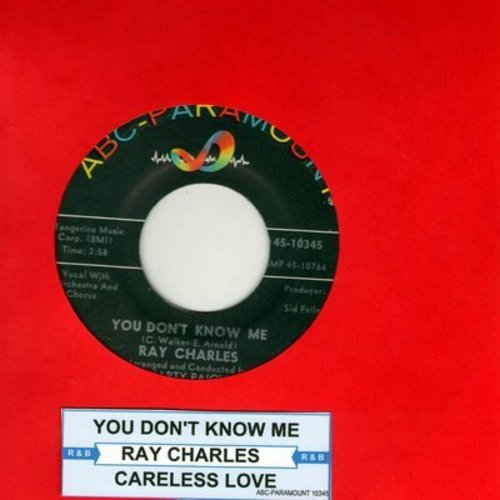 Charles, Ray - You Don't Know Me/Careless Love (with juke box label) - EX8/ - 45 rpm Records