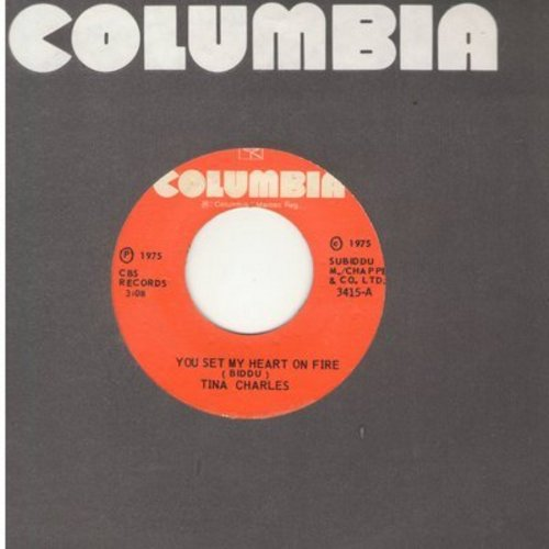 Charles, Tina - You Set My Heart On Fire/Fire (Instrumental) (Jamaican Pressing) - EX8/ - 45 rpm Records