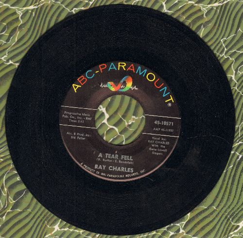Charles, Ray - A Tear Fell/No One To Cry To - EX8/ - 45 rpm Records