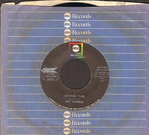 Charles, Ray - Crying Time/One Mint Julip (1970s double-hit re-issue with ABC company sleeve) - NM9/ - 45 rpm Records