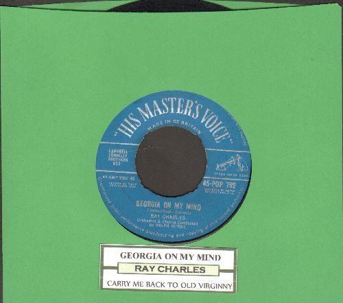 Charles, Ray - Georgia On My Mind/Carry Me Back To Old Virginny (British Pressing with juke box label) - VG7/ - 45 rpm Records