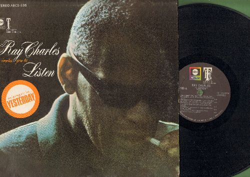 Charles, Ray - Listen: Yesterday, How Deep Is The Ocean, I'll Be Seeing You, People, You Made Me Love You (vinyl STEREO LP record) - VG7/VG7 - LP Records
