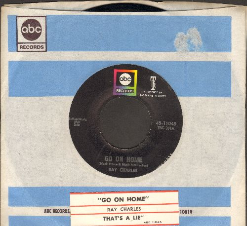 Charles, Ray - Go On Home/That's A Lie (with ABC company sleeve and juke box label) - NM9/ - 45 rpm Records