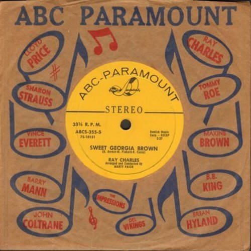 Charles, Ray - Sweet Georgia Brown/Diane (RARE 7 inch 33rpm STEREO single with small spindle hole, with ABC-Paramount company sleeve) - EX8/ - 45 rpm Records