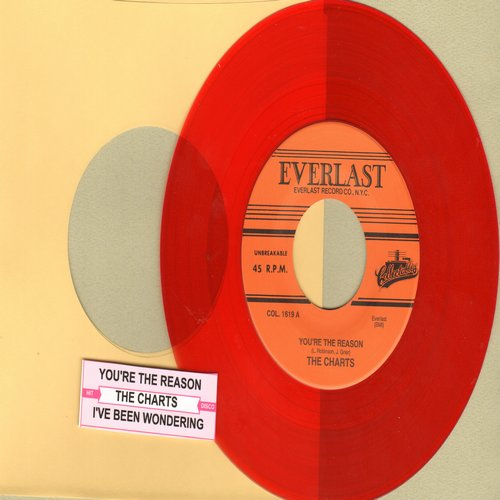 Charts - You're The Reason/I've Been Wondering (ORANGE Vinyl re-issue) - M10/ - 45 rpm Records