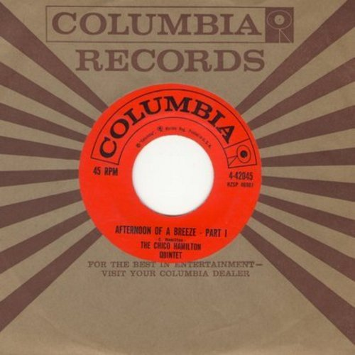 Hamilton, Chico Quintet - Afternoon Of A Breeze (Parts 1 + 2) (with Columbia company sleeve) - NM9/ - 45 rpm Records