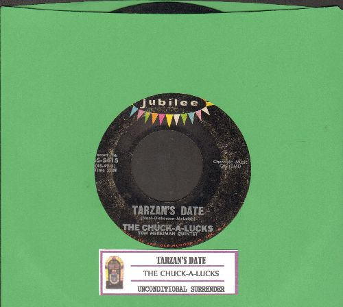 Chuck-A-Lucks - Tarzan's Date/Unconditional Surrender (RARE Vintage Halloween Novelty, with juke box label) - VG6/ - 45 rpm Records