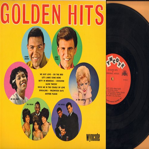 Checker, Chubby, Dee Dee Sharp, Bobby Rydell, Orlons, Dovells, Jo Ann Campbell - Golden Hits: Slow Twistin', Mother Please, Wildwood Days, Do The Bird, We Got Love, Let's Limbo Some More, Rock Me In The Cradle Of Love (Vinyl MONO LP record) - NM9/EX8 - LP