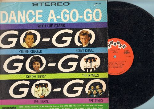 Checker, Chubby, Dee Dee Sharp, Bobby Rydell, Orlons, Dovells, Tymes - Dance A-Go-Go With The Stars: Rosie, Wah Watusi, One Little Kiss, South Street, Do The Bug (vinyl STEREO LP record) - NM9/VG7 - LP Records