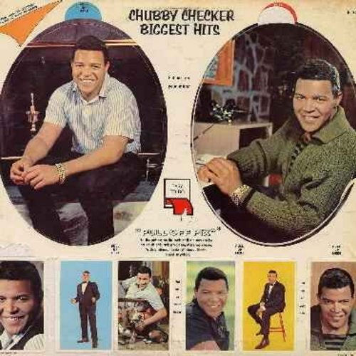 Checker, Chubby - Biggest Hits: Let's Twist Again, Limbo Rock, The Twist, Slow Twistin', Dancin' Party, The Fly, The Hucklebuck, Pony Time (Vinyl LP record, ALL bonus pictures still in place, including the 2 larger portraits on back cover still untouched!