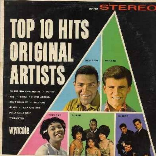 Checker, Chubby & Bobby Rydell - Top Ten Hits Original Artists - Cha Cha Cha, Ride, Hully Gully Baby, Wah-Watusi, Do The New Continental, Don't Hang Up, Gravy (Vinyl STEREO LP record, NICE condition!) - NM9/VG7 - LP Records