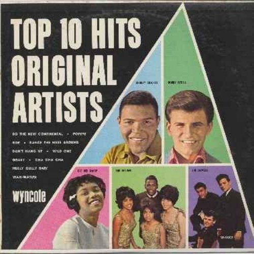 Checker, Chubby & Bobby Rydell - Top Ten Hits Original Artists - Cha Cha Cha, Ride, Hully Gully Baby, Wah-Watusi, Do The New Continental, Don't Hang Up, Gravy (Vinyl MONO LP record) - EX8/EX8 - LP Records