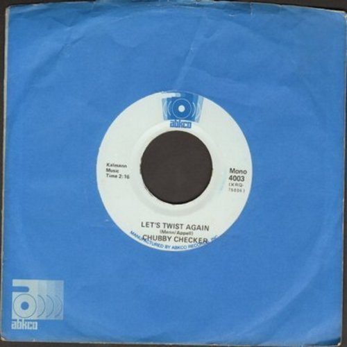 Checker, Chubby - Let's Twist Again/Limbo Rock (early double-hit re-issue with company sleeve) - EX8/ - 45 rpm Records