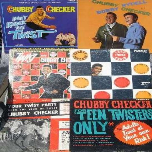 Checker, Chubby - 6- Pack of Chubby Checker 33rpm vinyl LP records - 6 Original Vintage LPs, all in very good or better condition. Albums includes are Twist With Chubby Checker, For Teen Twisters Only, Chubby Checker & Bobby Rydell, Don't Knock The Twist