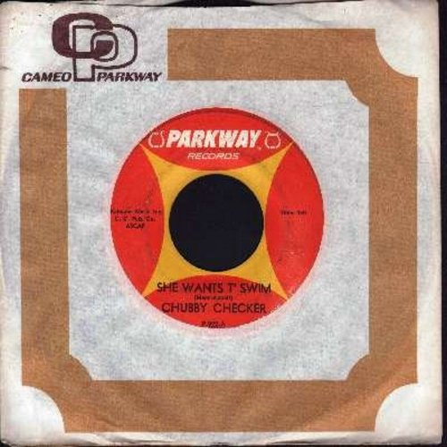 Checker, Chubby - She Wants T' Swim/You Better Believe It Baby (with vintage Parkway company sleeve) - NM9/ - 45 rpm Records