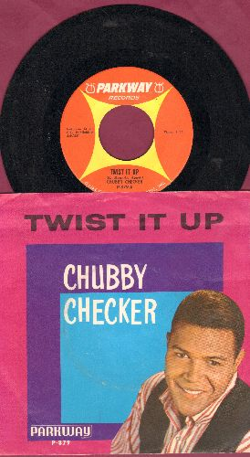 Checker, Chubby - Twist It Up/Surf Party (with picture sleeve) - NM9/EX8 - 45 rpm Records