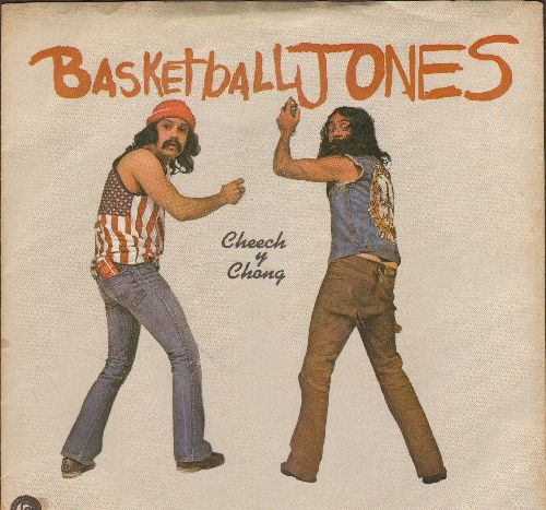 Cheech & Chong - Basketball Jones Featuring Tyrone Shoelaces/Don't Bug Me (with picture sleeve) - NM9/EX8 - 45 rpm Records