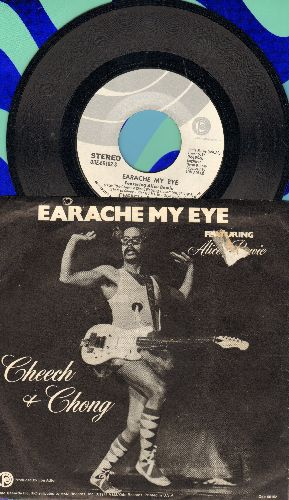 Cheech & Chong - Earache My Eye/Turn That Thing Down (with picture sleeve) - NM9/EX8 - 45 rpm Records