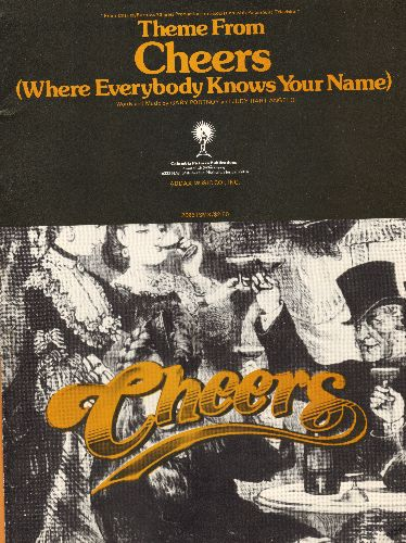 Portnoy, Gary - Theme From Cheers (Where Everybody Knows Your Name) - RARE SHEET Music of the Classic TV Theme (BEAUTIFUL cover art, suitable for framing!) - NM9/ - Sheet Music