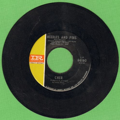 Cher - Needles And Pins/Bang Bang (My Baby Shot Me Down) (less common pressing featuring Needles And Pins) - EX8/ - 45 rpm Records