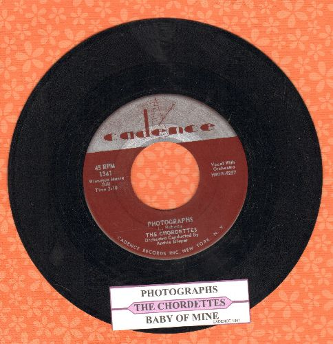 Chordettes - Photographs/Baby Of Mine (with juke box label) - NM9/ - 45 rpm Records