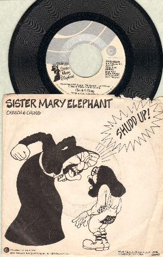 Cheech & Chong - Sister Mary Elephant/Wink Dinkerson (with RARE picture sleeve) - EX8/VG7 - 45 rpm Records