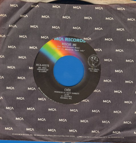 Cher - Rescue Me (FANTASTIC cover version of Fontella Bass Hit!)/Dixie Girl - NM9/ - 45 rpm Records