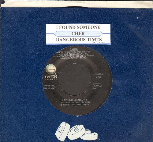 Cher - I Found Someone/Dangerous Times (with juke box label and Geffen company sleeve) - NM9/ - 45 rpm Records