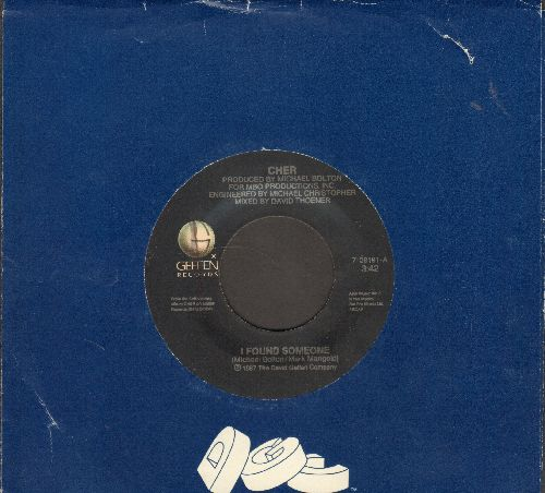 Cher - I Found Someone/Dangerous Times (with company sleeve) - VG7/ - 45 rpm Records