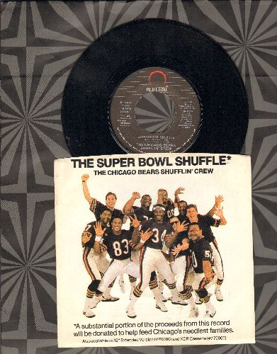 Chicago Bears Shufflin' Crew - Superbowl Shuffle/Super Bowl Shuffle (Instrumental) (with picture sleeve) - NM9/NM9 - 45 rpm Records