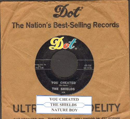 Shields - You Cheated/That's The Way It's Gonna Be (with juke box label and Dot company sleeve) - NM9/ - 45 rpm Records