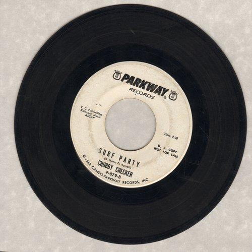 Checker, Chubby - Twist It Up/Surf Party (DJ advance pressing) - VG7/ - 45 rpm Records