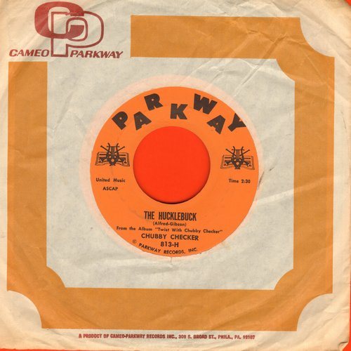 Checker, Chubby - The Hucklebuck/Whole Lotta Shakin' Goin' On (MINT condition with vintage Cameo-Parkway company sleeve) - M10/ - 45 rpm Records