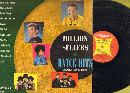 Checker, Chubby, Dee Dee Sharp, Dovells, Orlons, Bobby Rydell - Million Sellers Dance Hits: Let's Twist Again, Mashed Potato Time, The Fish, Hully Gully, South Street, Do The Bird (vinyl MONO LP record) - EX8/EX8 - LP Records