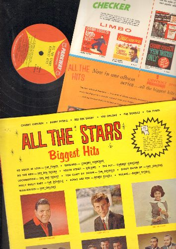 Tymes, Chubby Checker, Bobby Rydell, Dee Dee Sharp, others - All The Hits By All The Stars: So Much In Love, Do The Bird, Locomotion, Volare, Wah-Watusi, The Fly, Hully Gully Baby (vinyl MONO LP record, with original Parkway inner sleeve and BONUS mini-pi