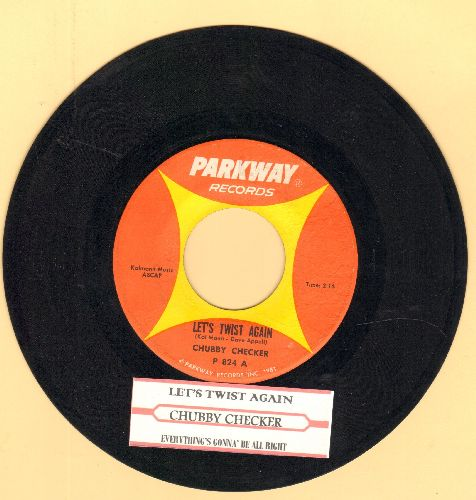 Checker, Chubby - Let's Twist Again/Everything's Gonna Be All Right (with juke box label - NM9/ - 45 rpm Records
