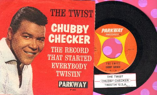 Checker, Chubby - The Twist/Twistin' U.S.A. (with picture sleeve and juke box label) - EX8/EX8 - 45 rpm Records