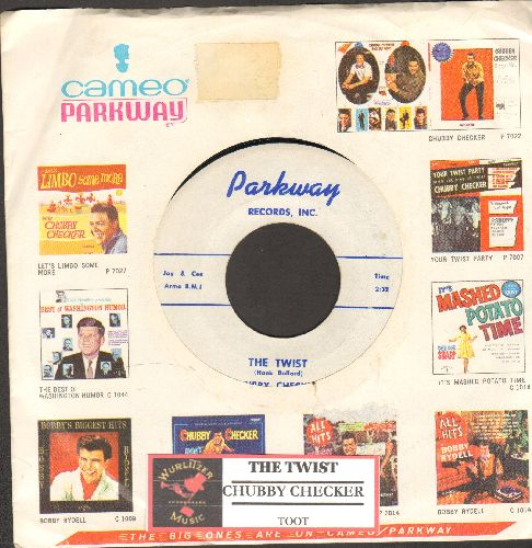 Checker, Chubby - The Twist/Toot (RARE white label early pressing with vintage Cameo-Parkway company sleeve and juke box label)  - EX8/ - 45 rpm Records