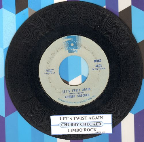 Checker, Chubby - Let's Twist Again/Limbo Rock (early double-hit re-issue with juke box label) - EX8/ - 45 rpm Records