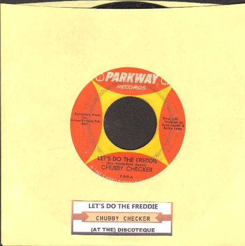 Checker, Chubby - Let's Do The Freddie/(At The) Discoteque (with juke box label) - VG7/ - 45 rpm Records